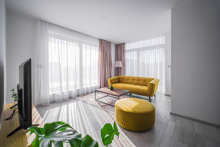 Ap. 21 - 70m2, balkon a terasa 45m2