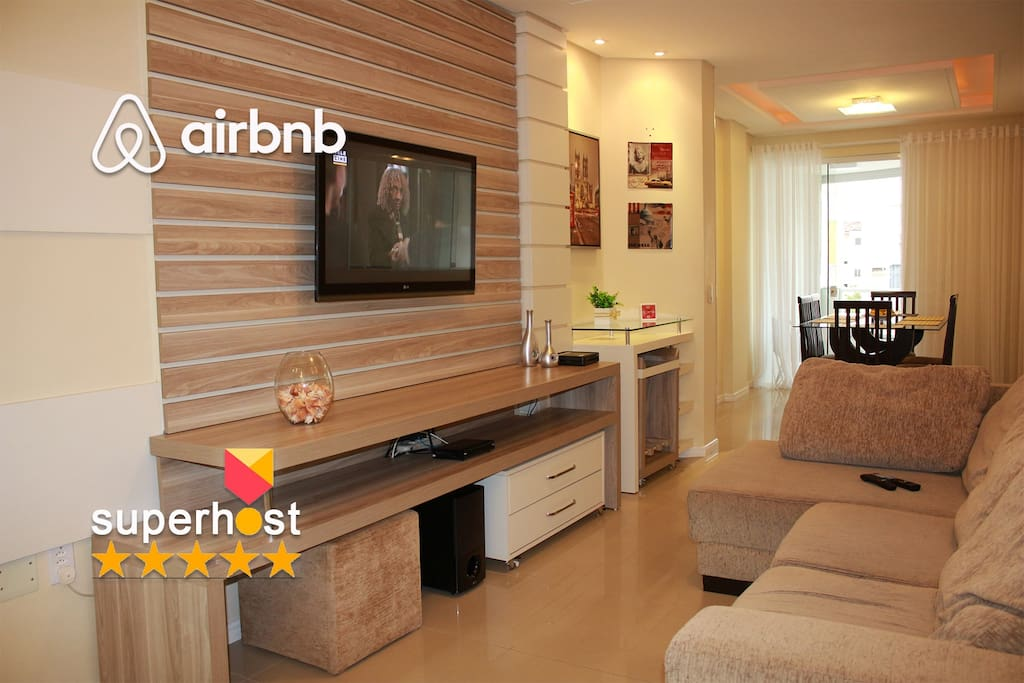 Sala de estar com 7 tipos de iluminação. Você escolhe de acordo com o momento :) :)