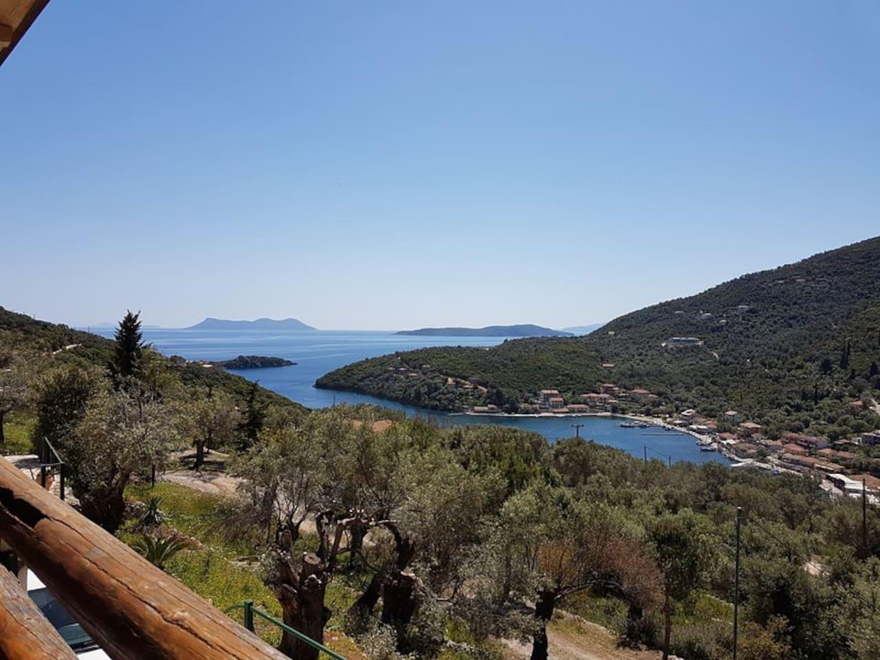 The view from Villa Priscilla