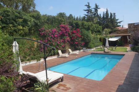 Casa Font del Ferro, gran piscina junto al bosque