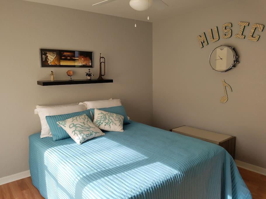 """Music"" bedroom"