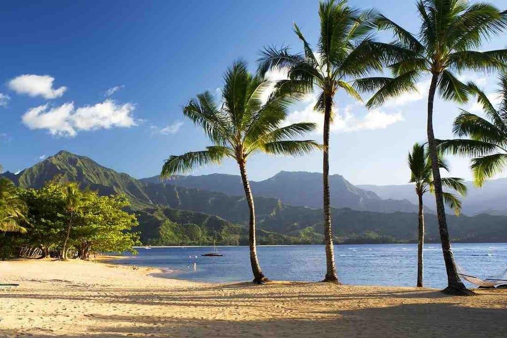Beach at Hanalei Bay Resort