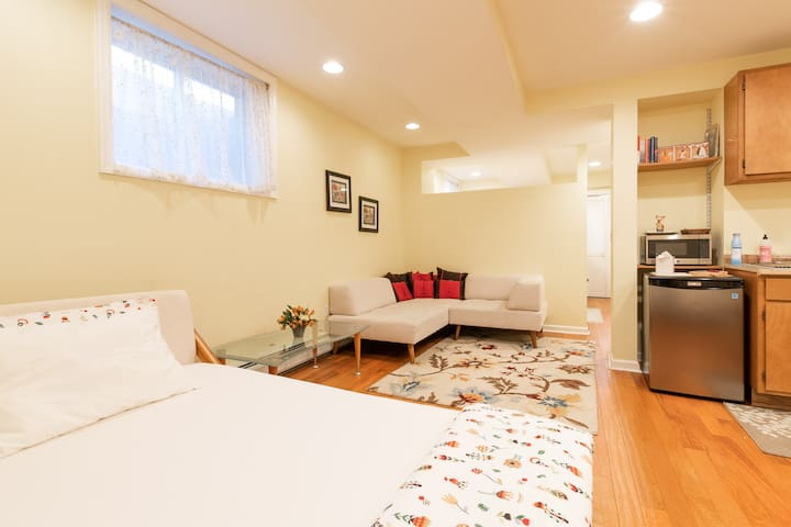 double bed in Living Room- for sleeping or just lounging