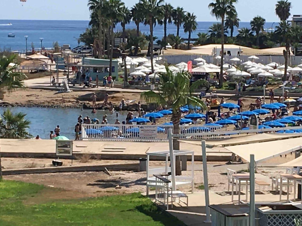 The nearest beach (in front of Anastasia Beach Hotel)