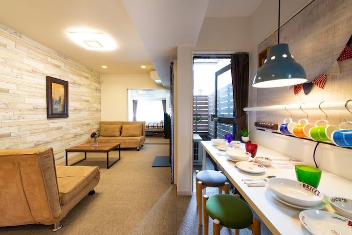 Luxury 40m2 APT 3min ShinjukuSanchome St 12min JR