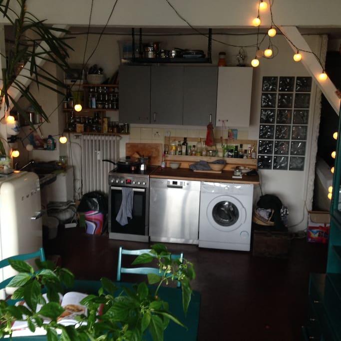 again, the kitchen