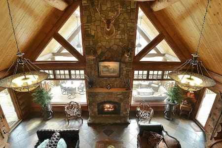Sleigh Run Farm-Log Lodge, about one hour from NYC - Newton - Natuur/eco-lodge