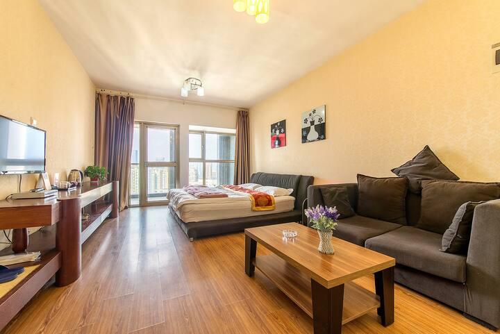 一环内地铁旁奢华舒适家庭公寓
