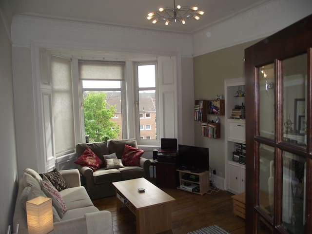 Double bed in tenement - Glasgow southside - Glasgow - Apartamento