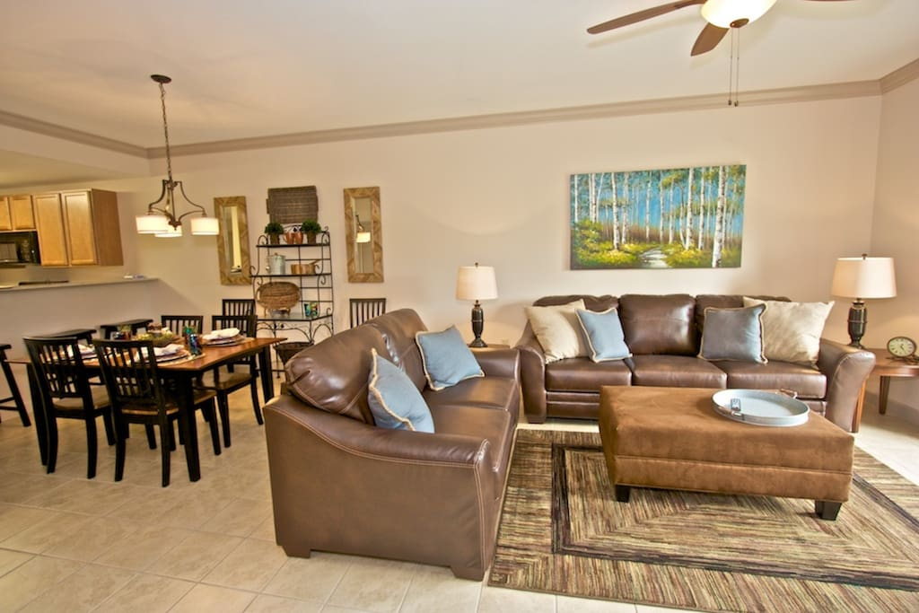 Spacious Living Area with Balcony Access overlooking the Smoky Mountains! Enjoy a morning cup of coffee and relax!