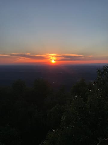 Sunset from nearby Look Rock tower