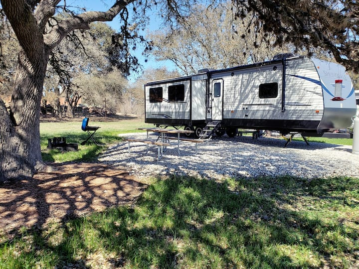 Relax & camp in the  Texas hill country
