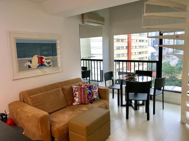 Apartamento moderno em flat na região da Paulista!