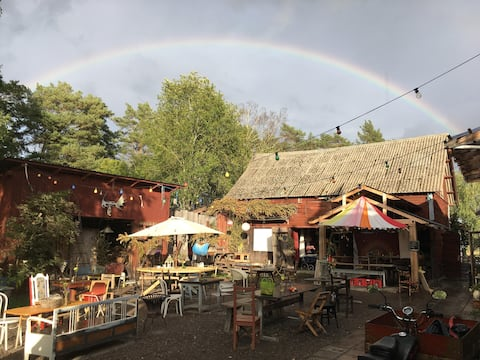 Treehouse experience at an idyllic community farm
