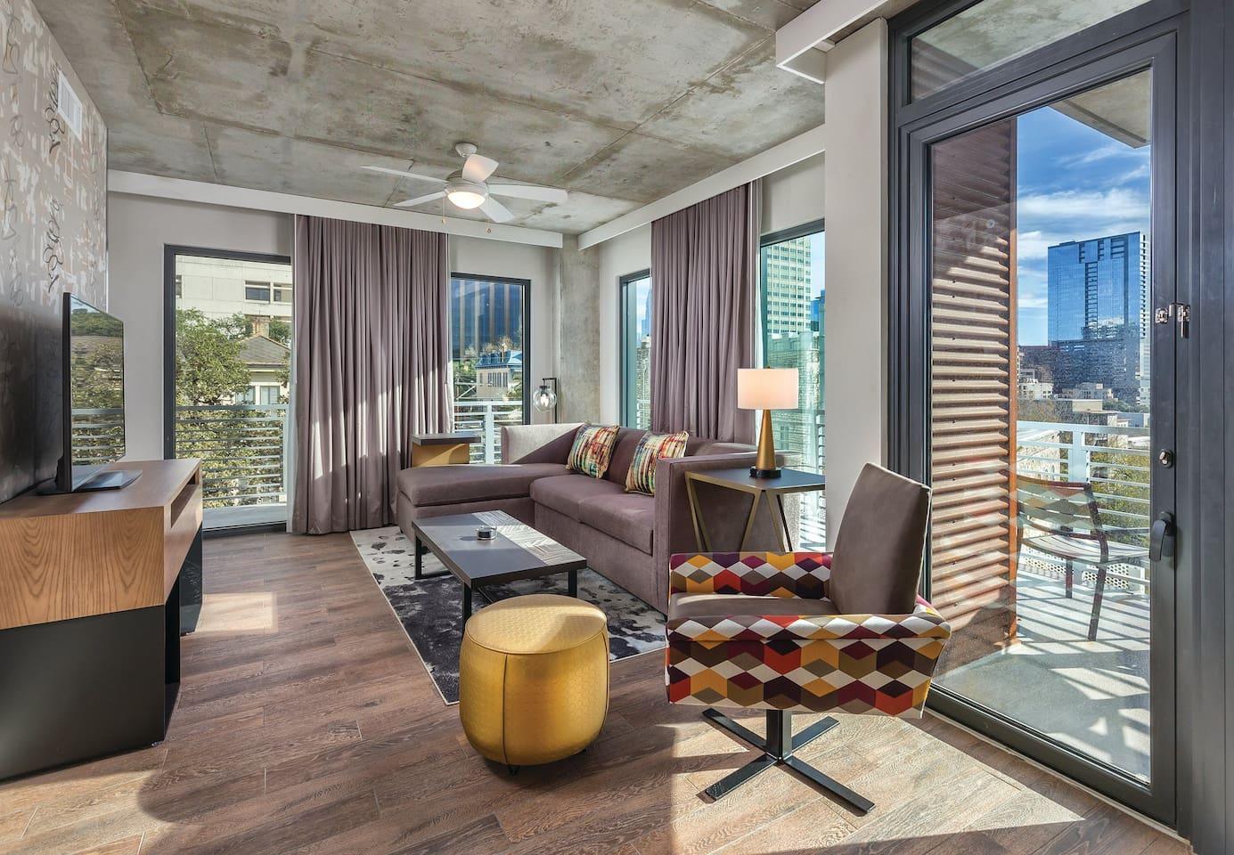 Living room and patio / balcony