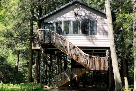 Spacious Tree House w/ River & Trail Access