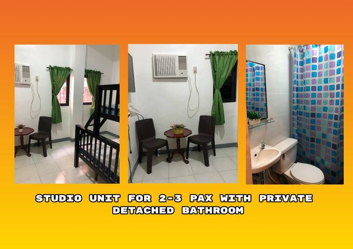 Studio for 2-3pax near UP PGH US Embassy Rob Mall