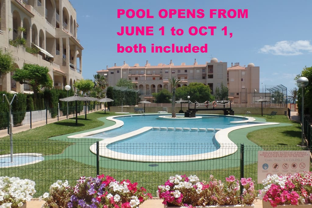 Beautiful swimming pool open from june the first, to october the first