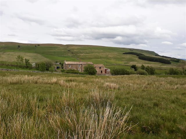 View of the house from near the Settle to Carlisle railway line.