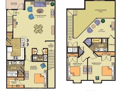 Private Master Bedroom & Bath - Orlando - Townhouse