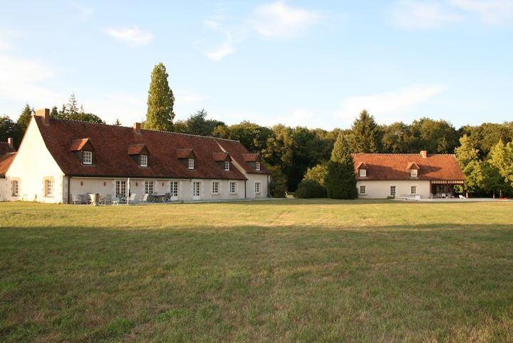 2 beautiful houses 16 p., pool in the Loir Valley