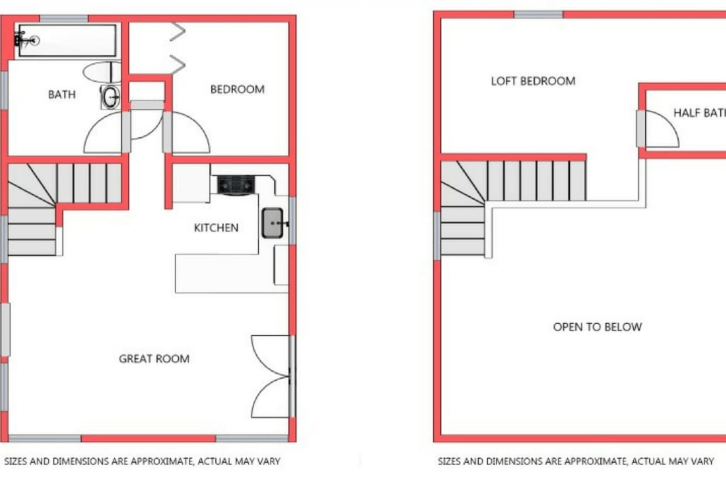 Small - about 900 sq feet, but very open cottage
