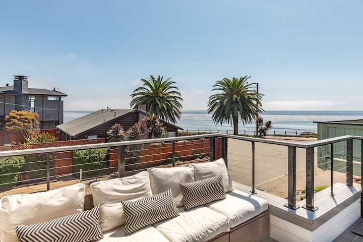 Endless Summer: Ocean-View Oasis - Walk to Beach!