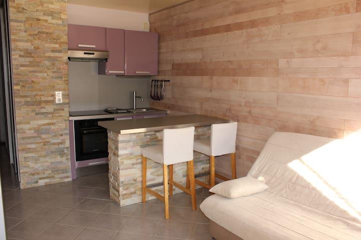 Charmant studio avec jardin clos à Annecy Le Vieux - Annecy-le-Vieux - Apartment