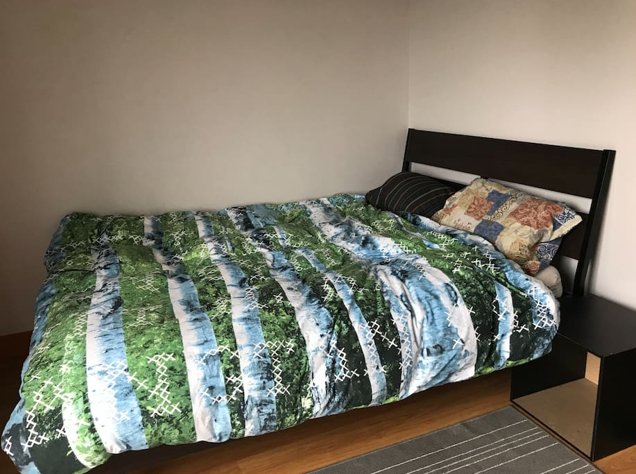 The bed - a full size.