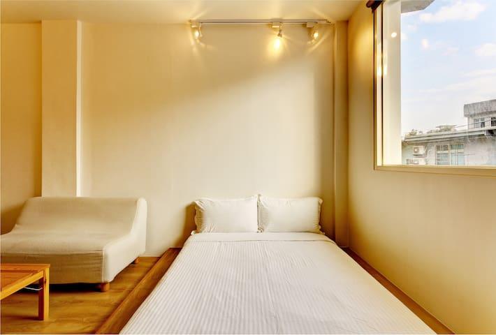 雙人套房2A-宜蘭羅東夜市樂福民宿 Loft Hostel - 羅東鎮 - Minsu (Taiwan)