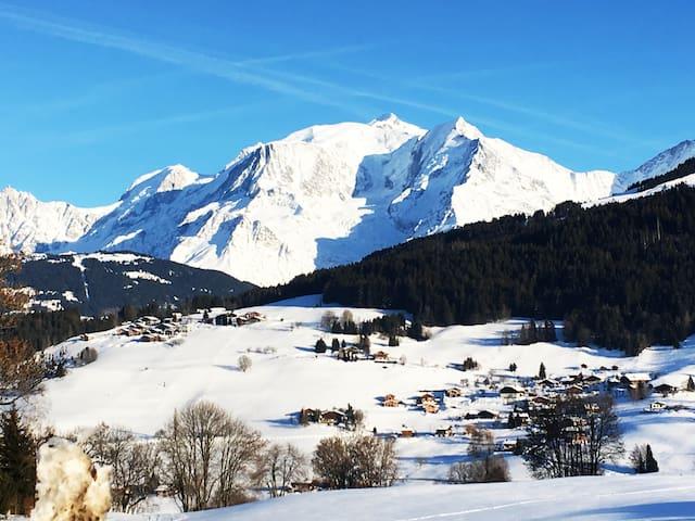 Appartement Combloux vue Mont Blanc