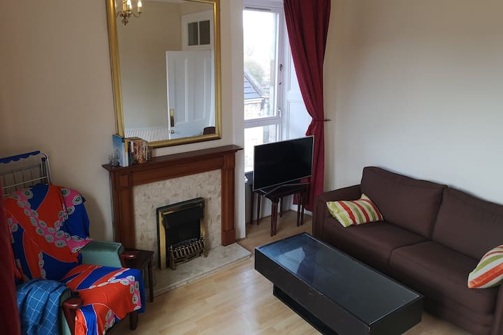 Central Paisley bright 1BR flat