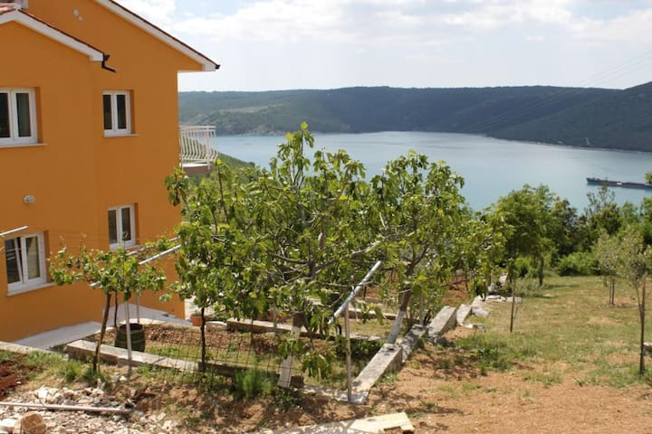 Two bedroom apartment with terrace and sea view Trget, Raša (A-7687-a)