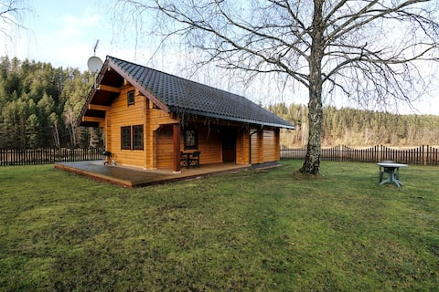 Log House in Picturesque Neris River Valley