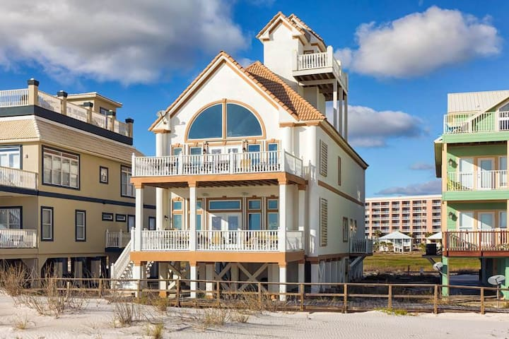Carpe Diem -6bdrm beach front home in Ft Morgan - Gulf Shores - Haus