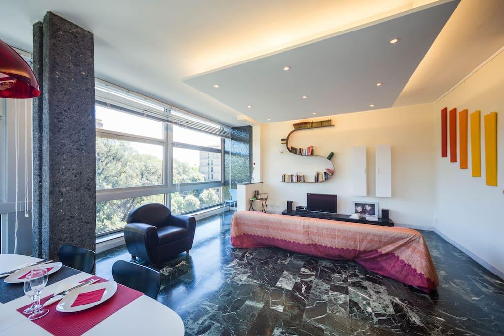 Salone/Sala da pranzo / Wohn-Ess-Bereich / Living and eating area