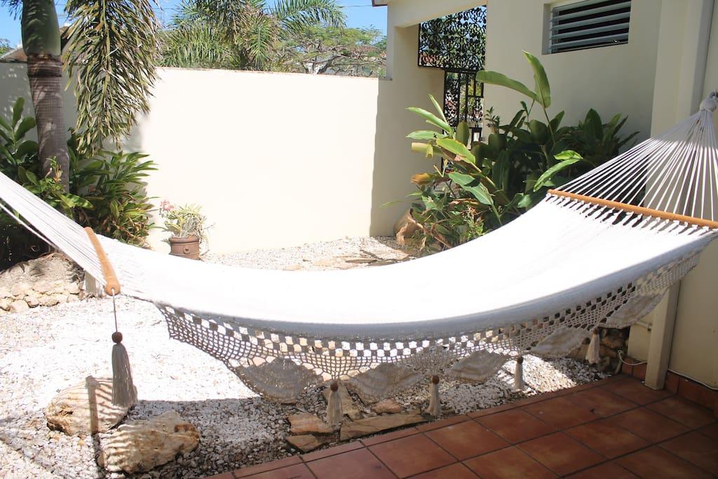 Relax on the sunny hammock