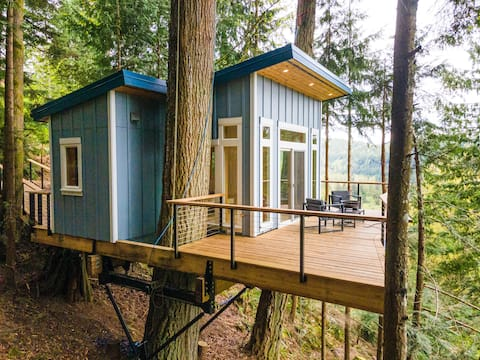 Bellingham Treehouse with a Waterfall and View