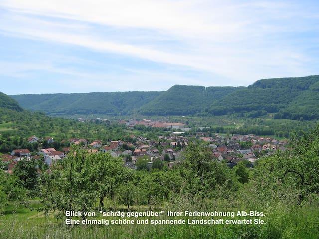 Ferienwohnung: Glücksgefühl im ALB-BISS, Topp Lage - Lenningen - Appartamento