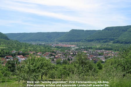 Ferienwohnung: Glücksgefühl im ALB-BISS, Topp Lage - Lenningen - 公寓