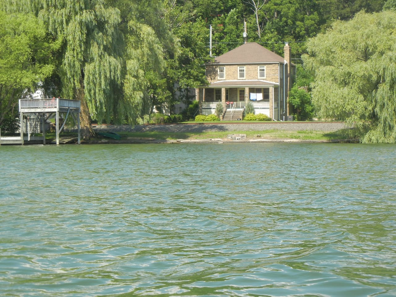 View of home from the lake. Very easy access!