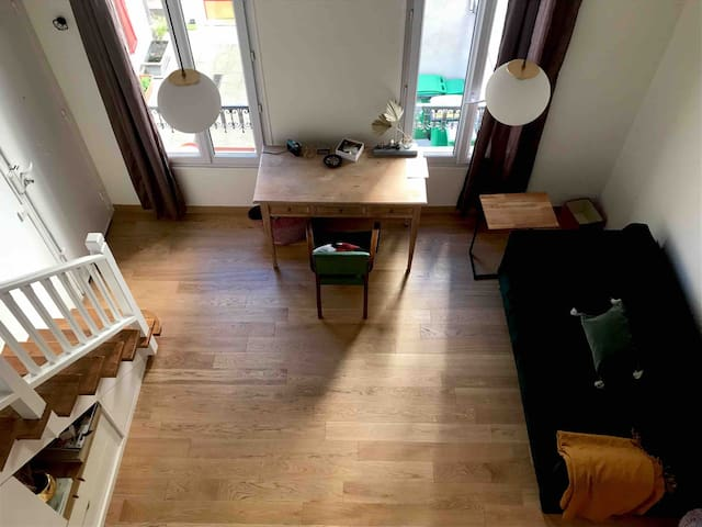 Studio loft in Paris close to Montmartre