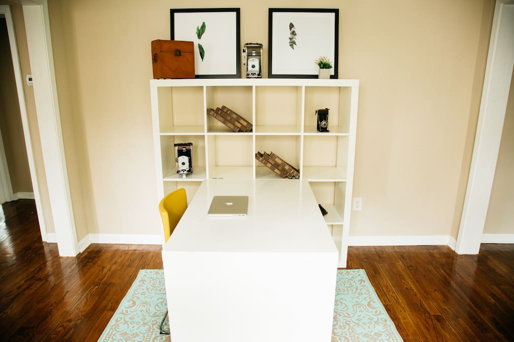 Simple desk area for writing, art and creative projects.