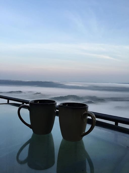 Enjoy your morning coffee we provide while seeing this breathtaking view.
