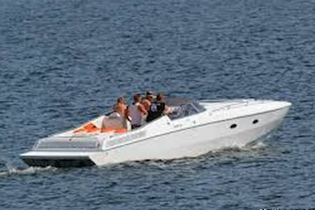 Miami Vice: US-Powerboat with 2x300HP (Vmax: 55kn) - Zürich - Boot
