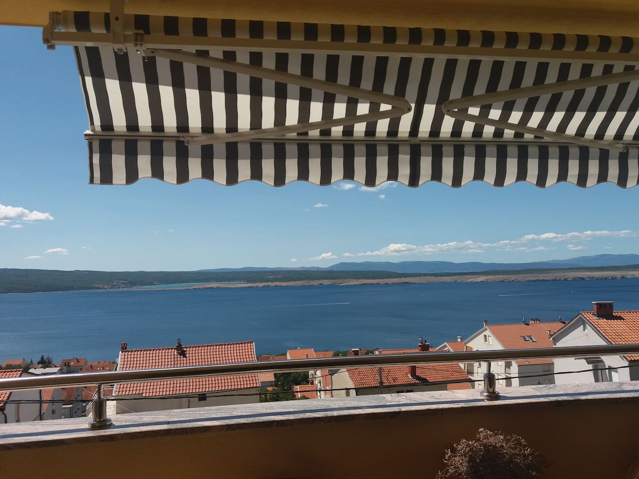 look at this sea view ! Apartment Jadre**** - magnificent sea view, air-conditioned,WiFi,privat parking-all included in the price