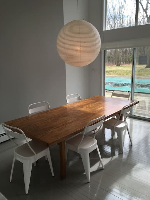 Custom build dining room table was made for family meals!