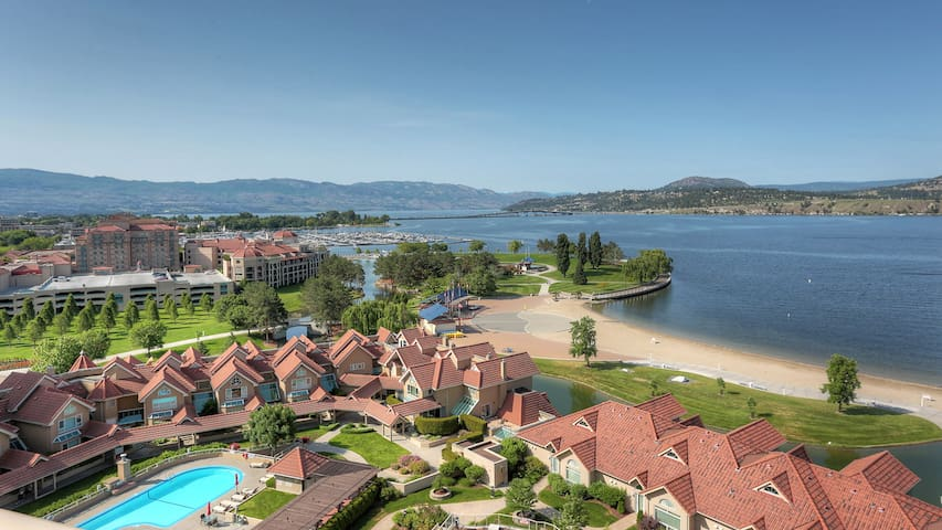 #1302 Sunset Resort Downtown lakefront Kelowna Stunning Lake View Suite
