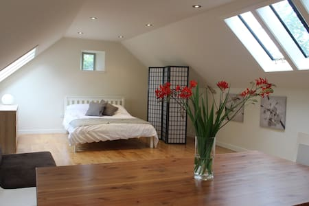 Modern conversion of historic stable.