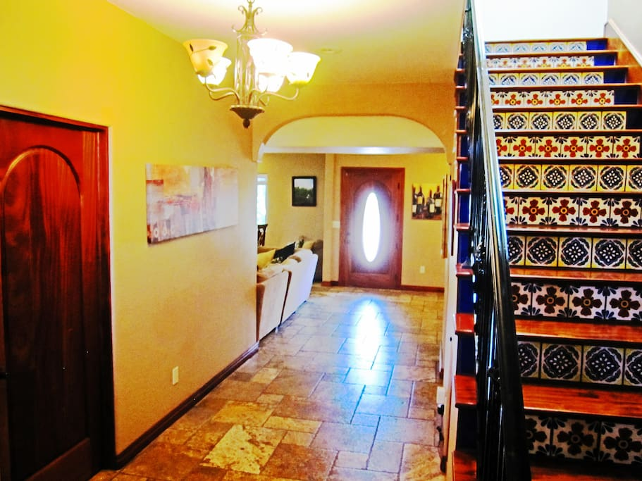 View entering the house - beautiful Spanish tile